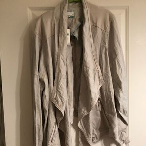 NWT Anthropologie A+ linen blend draped jacket 3X